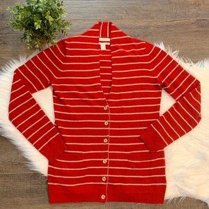 Banana Republic wool striped cardigan sweater